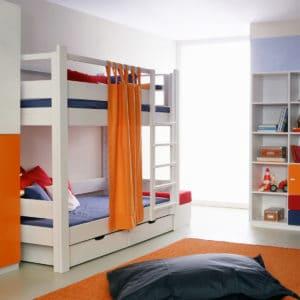 weißes debe.destyle Etagenbett mit zwei Bettkästen