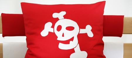 Detail - Hochbett Pirat in Buche, Kissen